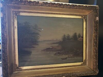 Framed Oil Painting Canvas Hand Signed M.H.N 1905