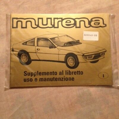 Supplement Livret De   Matra Murena En Italien