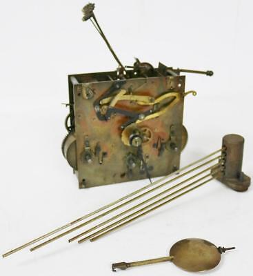 Antique Kienzle 8 Day Musical Westminster Chime Movement With Pendulum & Gongs