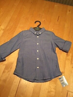 Mothercare Toddler Boys Blue Shirt, Age 18-24 months BNWT