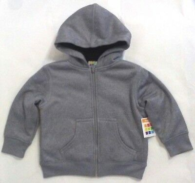 f60a6029f Healthtex Toddler Boys Gray Cozy Sherpa Zip Hoodie Faux Fur NWT 2T Jacket  Coat