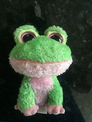 5b83114d3cd Ty Beanie Babies Boo Boos Kiwi Green Pink Frog Dated 2009 No Card Tag  Approx 6