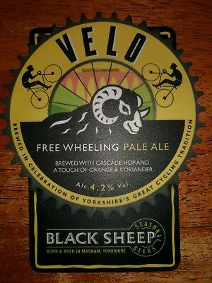 Black Sheep Velo Beer Pump Clip And Bottle Opener. Used. Pub club mancave