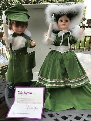 "Rare' Telco-Like 24"" Lighted Animated Christmas Motion-Ette Victorian Girl/boy"