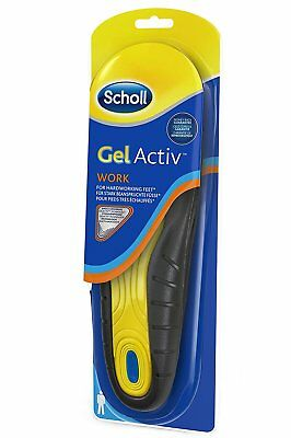 Scholl Gel Activ Insoles MEN WORK 1 Pair Size 7-12 NEW LOOK Very Comfortable