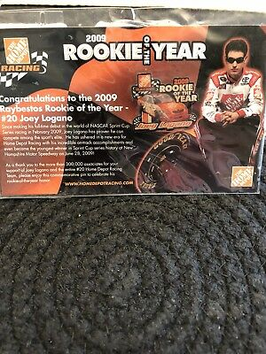 Joey Logano 2009 Rookie Race Car Pin With Card
