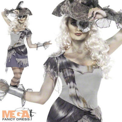 Zombie Ghost Pirate Ladies Halloween Fancy Dress Womens Adults Costume Outfit