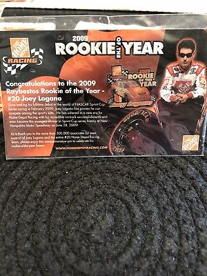 The Home Depot Joey Logano Rookie Of The Year 2009 Card And Pin