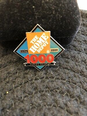 The Home Depot 1000 Stores Strong 1979-2000 Commemorative Pin