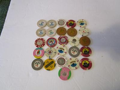 Lot of 26 Vintage Casino Chips