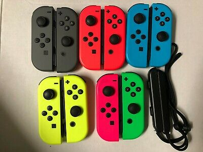 Nintendo Switch Joy Con Single Neon Blue/Red/Yellow/Pink/Green & Gray- Pro contr