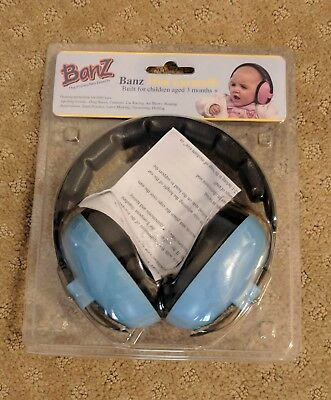 Baby Banz Earmuffs Infant Hearing Protection Baby Blue (ages 3 mo. - 2 yrs.)