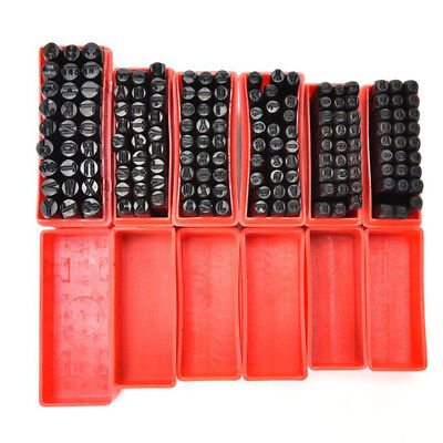 Alphabet/Number Stamps Craft Set Letters Punch Die Steel Metal Leather Tool Case