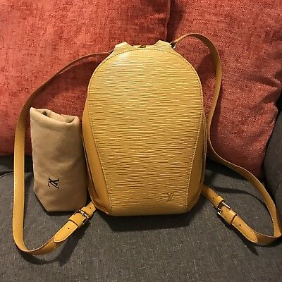 Authentic Louis Vuitton Backpack Mabillon Yellow Epi Leather