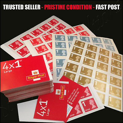 1st Class LARGE Stamps PRISTINE Self Adhesive Postage First Stamp FAST POST WOOW