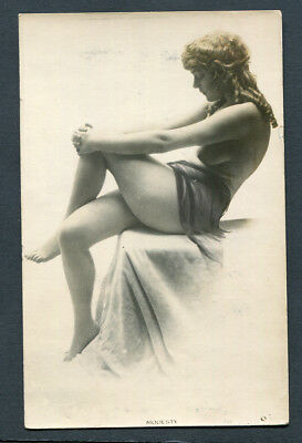 Nude,topless Model Seated Cross Legged With Strategically Placed Veil,un,rp,