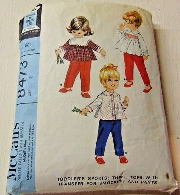 Vintage McCall's Toddler Sports Pattern #8473 Size 2 (Tops & Pants)