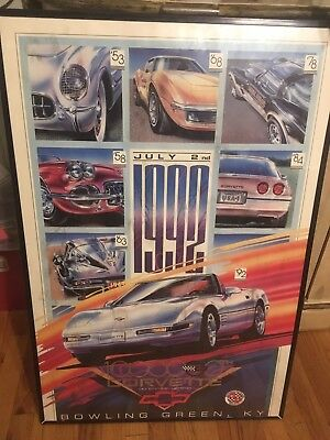 "RARE 1992 1,0000,00th C4 Corvette 24"" X 36"" Poster print With VIN # June 2nd"