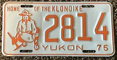 1975 Yukon Vintage License Plate  Home Of The Klondike
