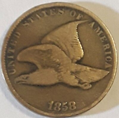 1858 Flying Eagle Cent      10208aD
