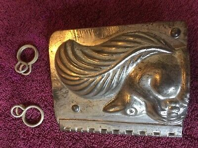 Squirrel Antique Chocolate mold candy old vintage