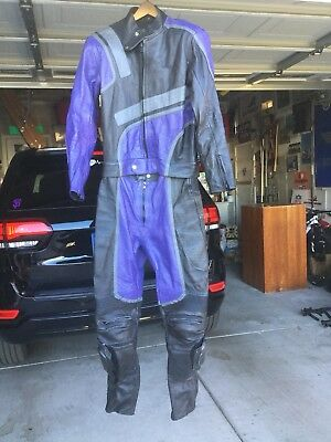 Full Leather Motorcycle Riding/Racing Suit Medium