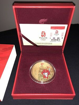 Olympic Memorabilia Mint Commemorative Medallion Of Torch Relay Beijing 2008 Olympic Games Sports Memorabilia