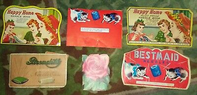 Vintage Needle Book Lot of 6