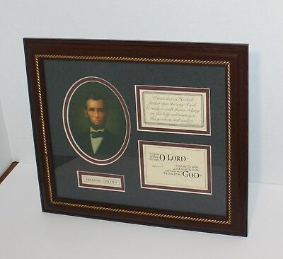 Abraham Lincoln Framed Art With Quote Treasure