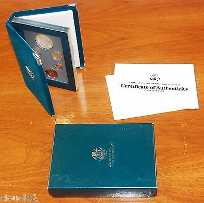 1990 Eisenhower Prestige Proof Set original box with COA - Proof Silver Dollar