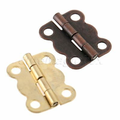 10/30/50/100pcs Butterfly Hinges Screws for Jewelry Box Cabinet Cabinet Cupboard