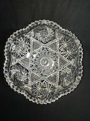 Beautiful Antique ABP Super Fine Heavy Superior Cut Glass Bowl