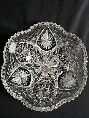 Beautiful Antique  ABP Super Fine Heavy Cut Glass Bowl