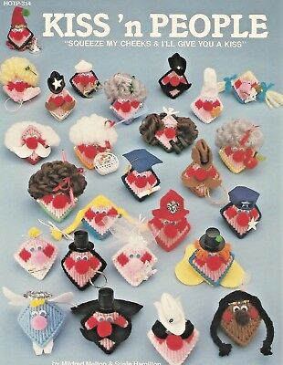 Kiss n People Plastic Canvas Patterns Leaflet Squeezums Squeezies HOTP 314 NEW