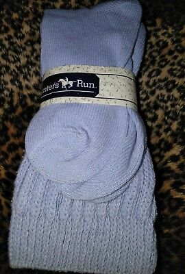 Vintage 1980's Gray Super Slouch Socks Made in the USA Unworn By Hunters Run