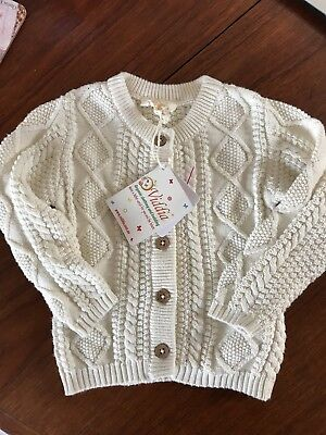 Viddia Cable Knit Cardigan Size 12-18 months