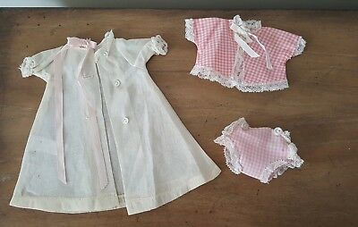 "Vintage 1950's Madame Alexander 8"" Little Genius Doll Robe Diaper & Top TAGGED"