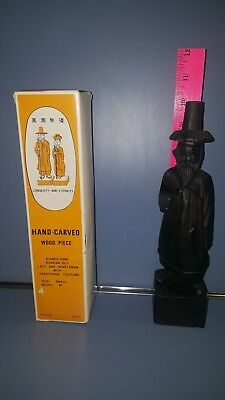 Hand Carved wood Korean Gentleman Wearing Traditional Costume New in box