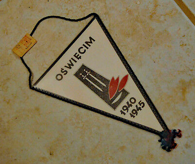 Oswiecim 1940-1945 Commemorative Banner from Camp Museum, post-WWII
