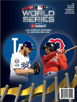 2018 World Series Champions Program Boston Red Sox Champs Vs Los Angeles Dodgers