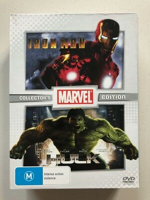 Iron Man / The Incredible Hulk - Collector's Edition (DVD, 2009) Region 4