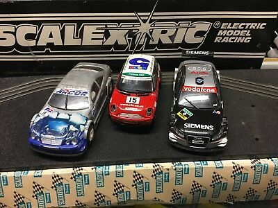 Scalextric 3 Sports Slot Cars Used 1/32 Scale