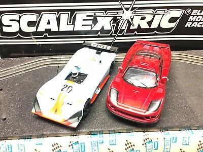 Two Scalextric  Lemans Cars 1/32 Scale Used