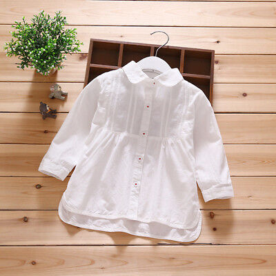 HOT Toddler Girls Spring Clothes Long Sleeve Cotton Tops T-Shirt Clothes