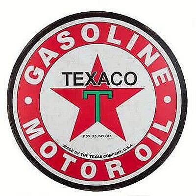 24 Inch TEXACO MOTOR OIL Metal Sign