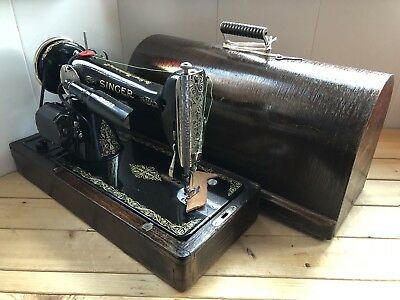 vintage singer 66k Knee Operated Electric Sewing Machine