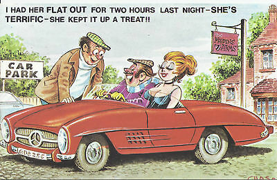 Vintage 1970's Bamforth COMIC Postcard (as new condition) She's Terrific #572