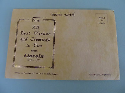 Vintage Foldout Lettercard/Postcard, LINCOLN UK by F. Firth unused