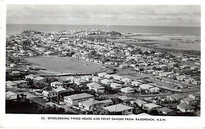 Vintage Murray Views Postcard - Tweed Heads and Point Danger from Razorback NSW