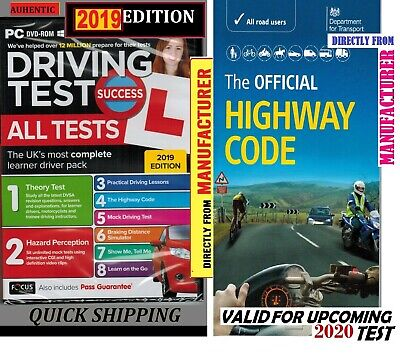 2019 Driving Theory Test & Hazard test CD Rom DVD Highway Code Book Car ATpc+Hw